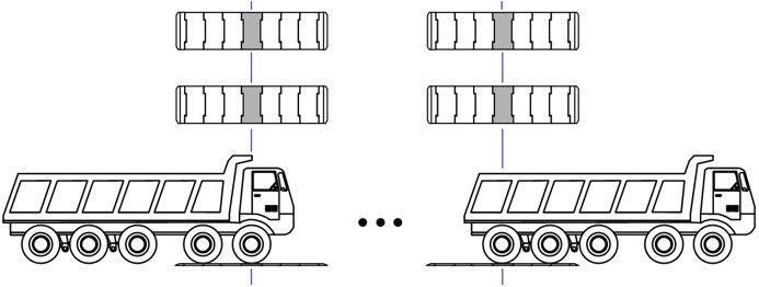 Схема взвешивания автомобиля